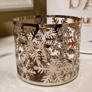 Bath & Body Works Snowflake Candle Holder